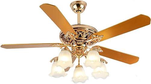 52 Inch Gold Ceiling Fan