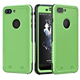 Underwater Housing for iPhone 7 Plus, Grade IP68 Pouch Swimming Underwater Photo Video Camera Waterproof Case Cover for iiPhone 7 Plus (Glass Green)