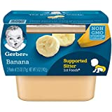 gerber first baby food - Gerber 1st Foods Bananas, 2-Count, 2.5-Ounce Tubs (Pack of 8)