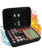 Feuerfester Batterie-Organizer Halter für 200 Batterien und Aufbewahrungsboxen mit Tester Checker, BT-168 Garage Gadget für AA AAA C D Cell 9 V 3 V Lithium LR44 CR2 CR1632 CR2032 Knopfbatterien