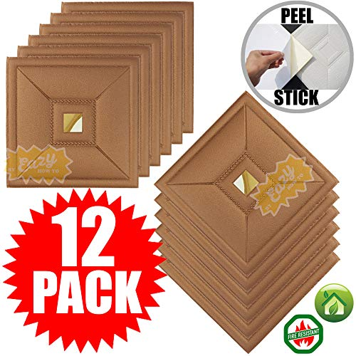 - Eazy How To 12 Pack Ceiling Tiles 12