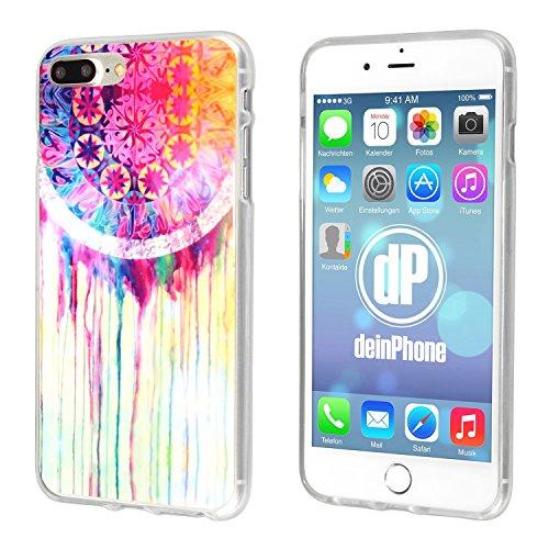 deinphone 2380024Apple iPhone 7Plus Coque en silicone coloré Mandala Aquarelle