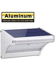 Licwshi Luci solari 450lm esterna impermeabile lega di alluminio Housing, 24 LED