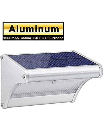 Licwshi 450lm La luz solar 24 LED de una aleación de aluminio