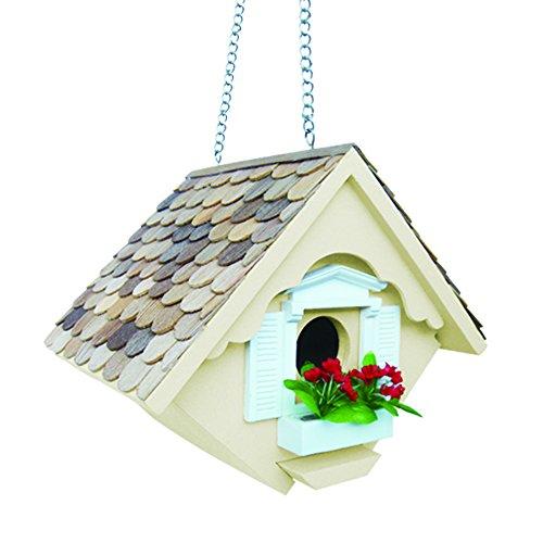 Home Bazaar Hand-made Little Wren Yellow Bird house - Bird Friendly - Home Decor