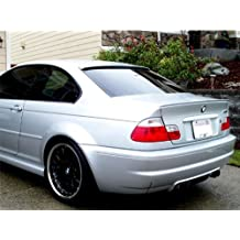 Deltalip Custom Painted Rear Trunk Boot Lip Spoiler BMW E36 3-Series 91-98 Sedan Compact 308-Bright Red Round-End Type