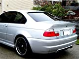 Deltalip Custom Painted Rear Trunk Boot Lip Spoiler BMW E46 3-Series 1998-2005 Sedan 416-Carbon Black Metallic Clearcoat Round-End Type
