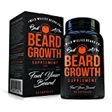 Facial Fillers Las Vegas - Beard Growth Vitamins for Men – Naturally Powerful, Full, Thick, Masculine Facial Hair Growth Vitamins for Men by Wild Willies - Hormone Free, All Natural, w/19 Potent, Pure Vitamins & Biotin