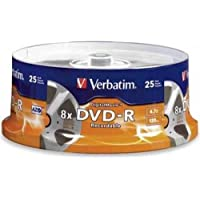 VERBATIM 94866 / 25PK DVD-R 8X 4.7GB DIGITALMOVIE SPINDLE