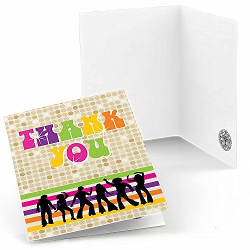 70's Disco - 1970's Disco Fever Party Thank You Cards (8 Count) -