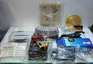 DragonHawk Tattoo - 2 Gun 40 Color Deluxe Kit w/Case