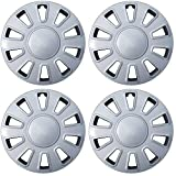 ford 17 hubcaps - OxGord Hub-Caps for Select Ford Crown Victoria (Pack of 4) 17 Inch Silver Wheel Covers