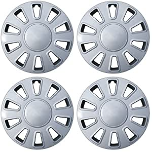 Hubcaps for 17 inch Standard Steel Wheels (Pack of 4) Wheel Covers - Snap On, Silver