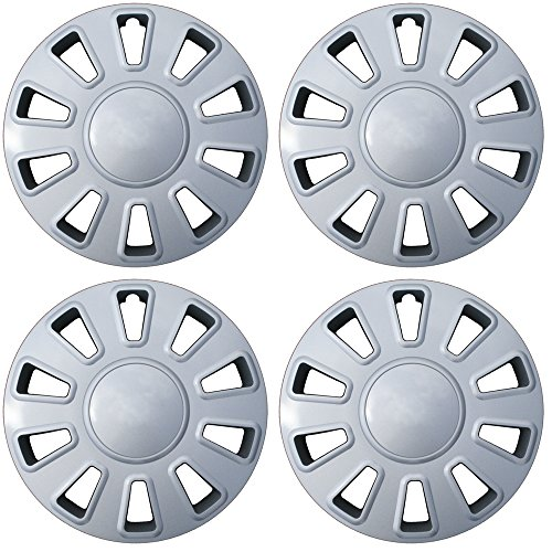 Crown Ford Wheel Original Victoria - 17 inch Hubcaps Best for 2006-2011 Crown Victoria - (Set of 4) Wheel Covers 17in Hub Caps Silver Rim Cover - Car Accessories for 17 inch Wheels - Snap On Hubcap, Auto Tire Replacement Exterior Cap