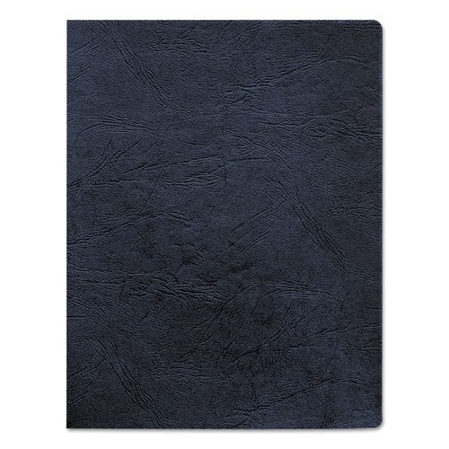 Fellowes 52136 Classic Grain Texture Binding System Covers, 11-1/4 x 8-3/4, Navy (Pack of 200) (Tape Binding Thermal)