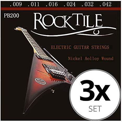 Rocktile cuerdas de guitarra eléctrica pack de 3: Amazon.es ...