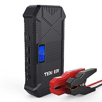 tenker 600a peak 14000mah portable car jump starter for 5 0l gas 3 5l diesel engine. Black Bedroom Furniture Sets. Home Design Ideas