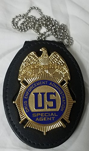 Drug Enforcement Administration DEA Badge Belt Clip/Neck Hanger badge not included -