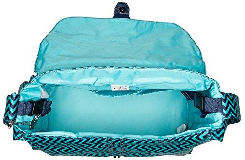 Kalencom Messenger Buckle Diaper Bag, Wiggly Stripes Ocean