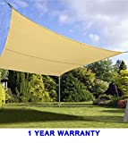 Quictent 24 x 24 ft 185G HDPE Square Sun Sail Shade Canopy UV Block Top Outdoor Cover Patio Garden Sand For Sale