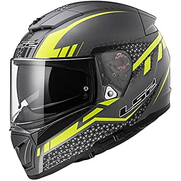 Casco Moto integral LS2 FF390 breacker doble visera split Matt Titanio Small