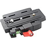 Andoer® Quick Release Clamp Adapter + Quick Release Plate P200 Compatible for Manfrotto 501 500AH 701HDV 503HDV Q5