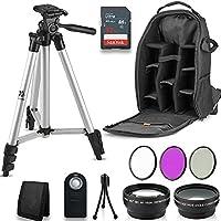 Professional 55MM Accessory Bundle Kit For Nikon D3400 D5600 D3300 AF-P & DSLR Cameras , 12 Accessories for Nikon