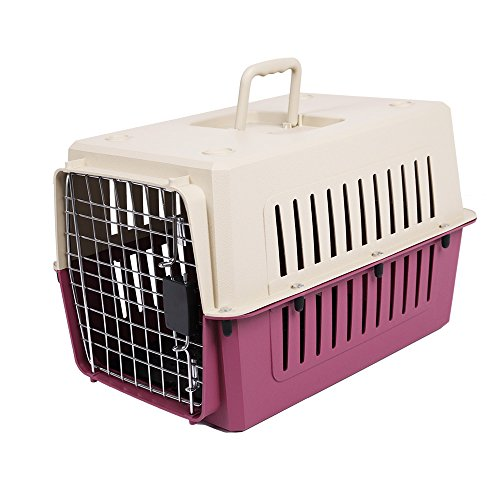 Livebest Hard-Sided Pet Travel Box Carrier Cat & Dog Crate Airline Approved