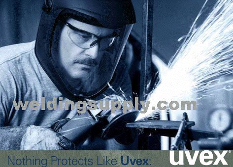 Uvex S3501 Genesis X2 Safety Eyewear, Silver and Navy Frame, Espresso Ultra-Dura Hardcoat Lens - Espresso Replacement Lens