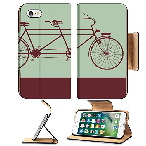 Tandem Bike Case - MSD Apple iPhone 7 iPhone 8 Flip Pu Wallet Case IMAGE ID 19810514 Vintage street sign with the silhouette of a tandem bike