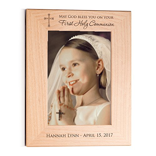 First Communion Portrait (Personalized First Communion Picture Frame (5