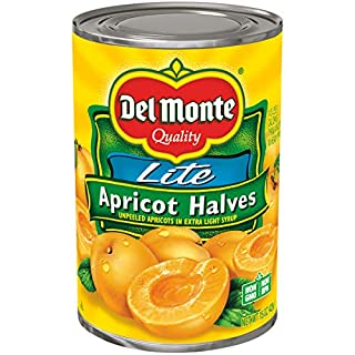 Del Monte Canned Apricot Halves in Extra Light Syrup, 15-Ounce Cans (Pack of 12)
