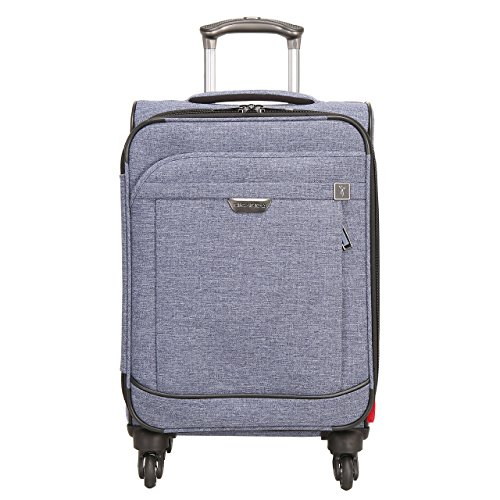 Ricardo Beverly Hills Malibu Bay 20-inch Carry-on Spinner Upright Suitcase, Indigo Blue