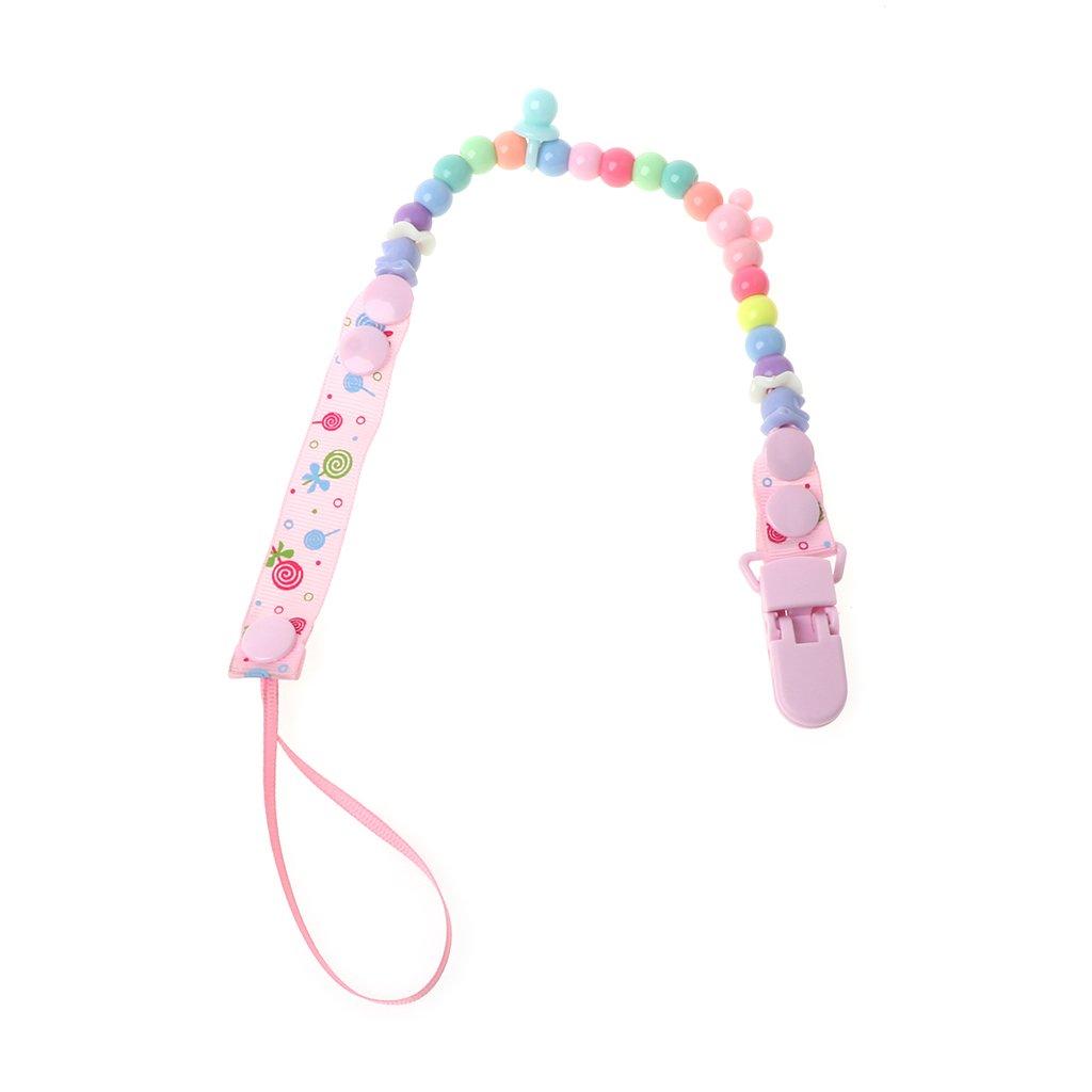 A0127 - Cadena para chupete de bebé con perlas, cinturón y ...