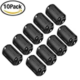 Ferrite Core, YAMAY 10-Pack Snap On 15mm Ferrite Core Cord Ring Choke Bead RFI EMI Noise Suppressor Filter for Power Cord USB Cable Antenna HDMI Audio Cable