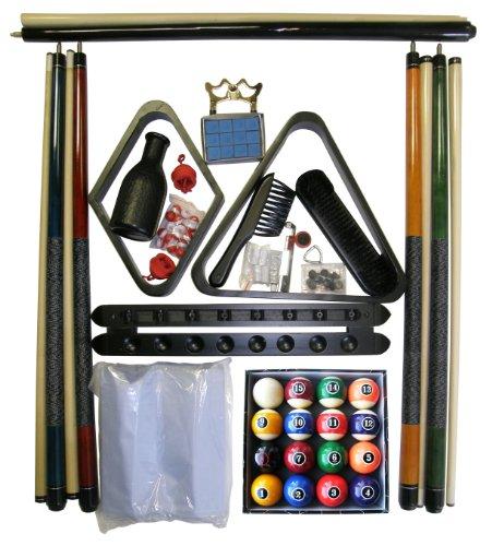 Modern Style Ball Set (Black Finish Billiard Pool Table Accessory Kit W Modern Style Ball Set)