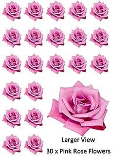 8 Comestible Grande Tonos Pastel 3d flores precortado Oblea adornos de cupcake
