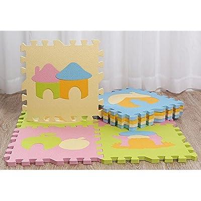 9 x mousse dalles / tapis d'éveil pour bébé / tapis de jeux / fond de parc / dalles en mousse / tapis de puzzle 30cm*30cm*1.4cm