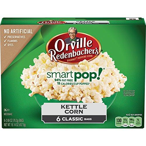 Redenbacher Kettle Korn Orville (Orville Redenbacher's SmartPop! Kettle Korn Popcorn, Classic Bag, 6-Count)