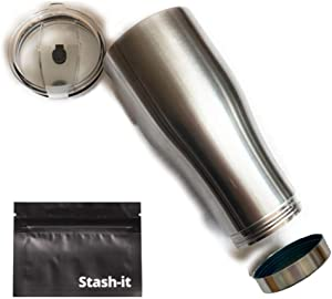 Coffee Mug Diversion Safe by Stash-it for hot/cold drinks with Big Clever Dry Hiding Spot for Cash,Driver's license, Credit Cards, Keys.Bottom Compartment Unscrews to store and hide Your Valuables.