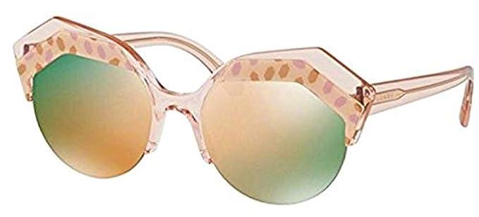 cff34178462 Bvlgari Women s BV8203 Sunglasses Blue Black Lt Brown Orange Orange  Gradient Light Grey
