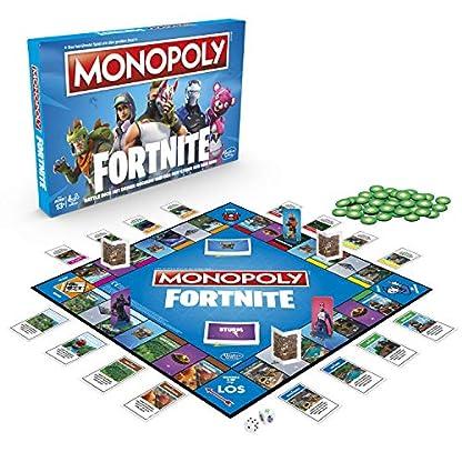 Hasbro Monopoly E6603100 Monopoly Fortnite Edition, Familienspiel, Multicolor 1