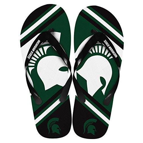 Michigan État Spartans Unisexe Grand Logo Tongs X-small (w 5-6)