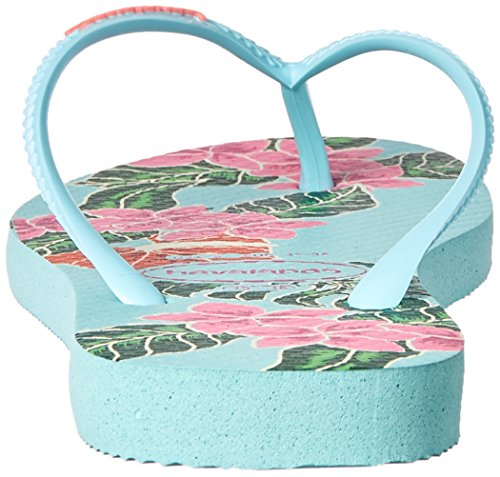 Pictures of Havaianas Women's Slim Floral Sandal Ice Blue B(M) 7