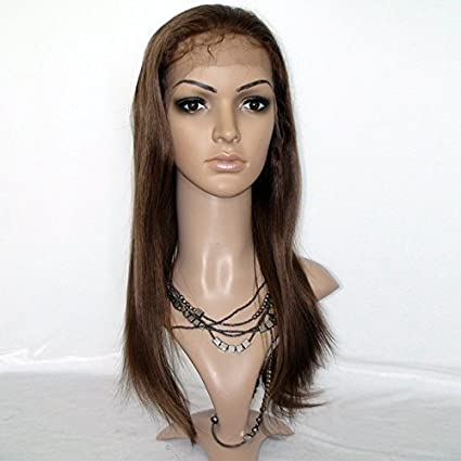 Hot Queen 100% Real brasileño Virgen Pelo Humano seda recto Lace Front Peluca
