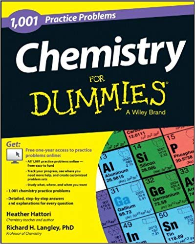[1118549325] [9781118549322] Chemistry: 1,001 Practice Problems For Dummies (+ Free Online Practice) 1st Edition-Paperback