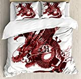 USOPHIA Dragon 4 Pieces Bed Sheets Set King