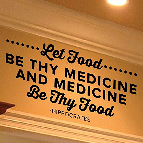 Let Food Be Thy Medicine And Medicine Be Thy Food - Hippocrates Wall Decal Quote - Wall Sticker - 0438