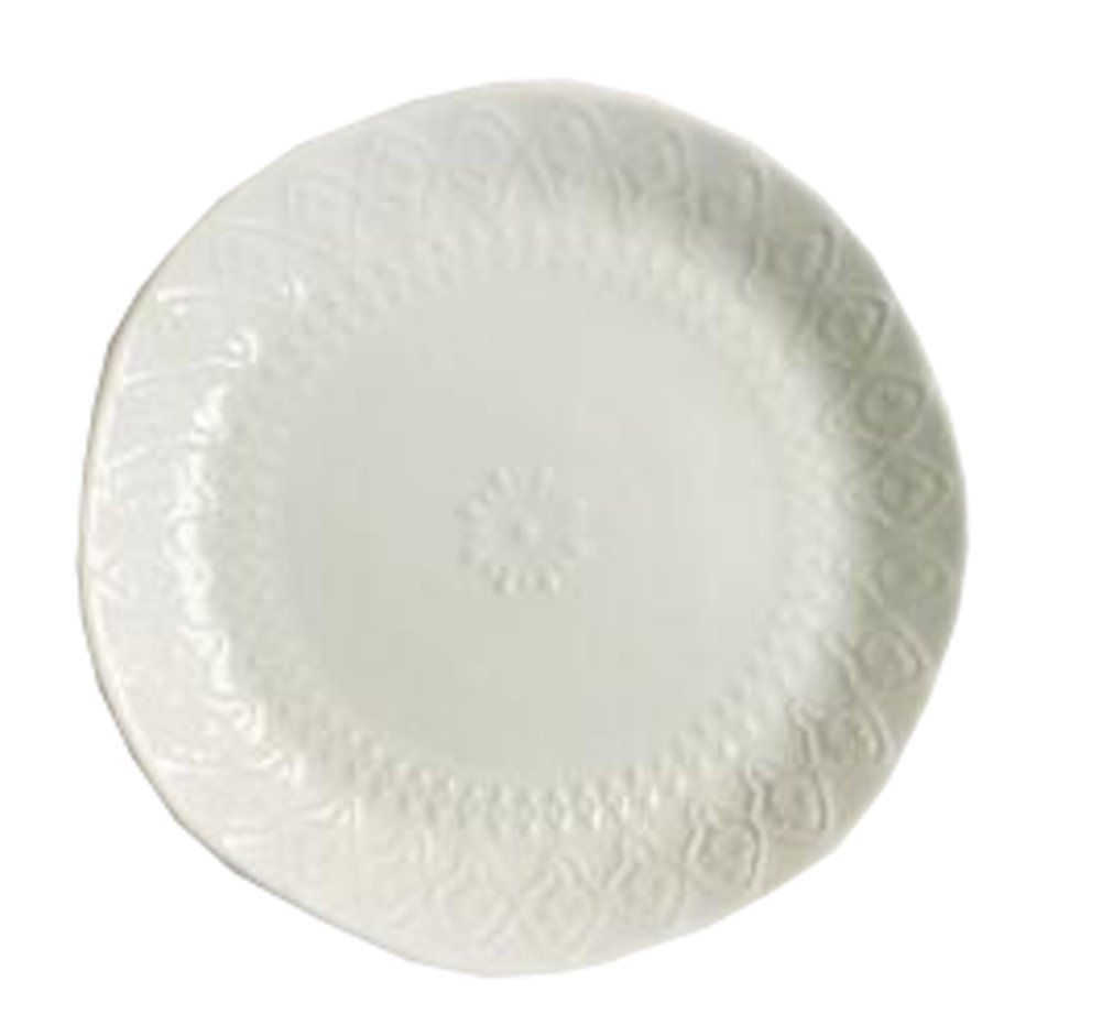 CeramicsフラットデザートケーキDish Platter Candy Dishesウェディングサラダプレート8インチ(ホワイト# 01 ) B07BRFBCFK Parent