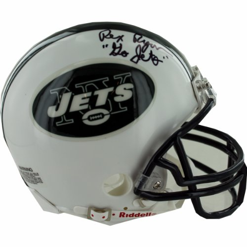 NFL New York Jets Rex Ryan Autographed Mini Helmet by Steiner Sports